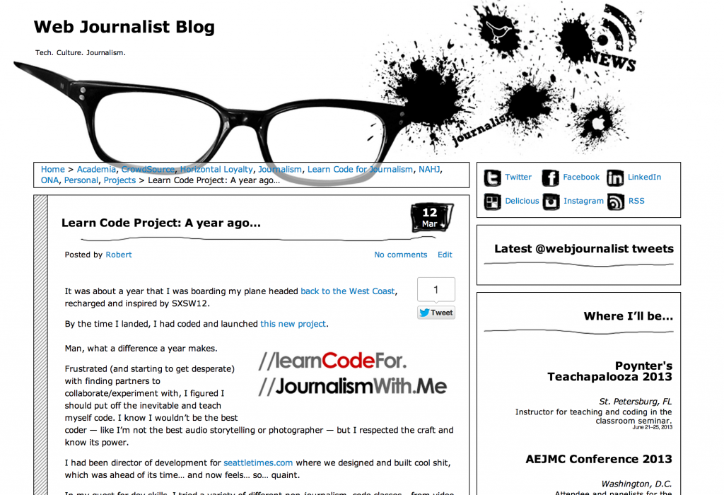 Webjournalist Blog post